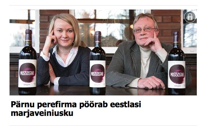 Mamm&Frukt käsitöö marjaveinid Toomas Vaidla ja Helen Vaidla. Käisime Pärnu Postimehe jaoks intervjuud andmas