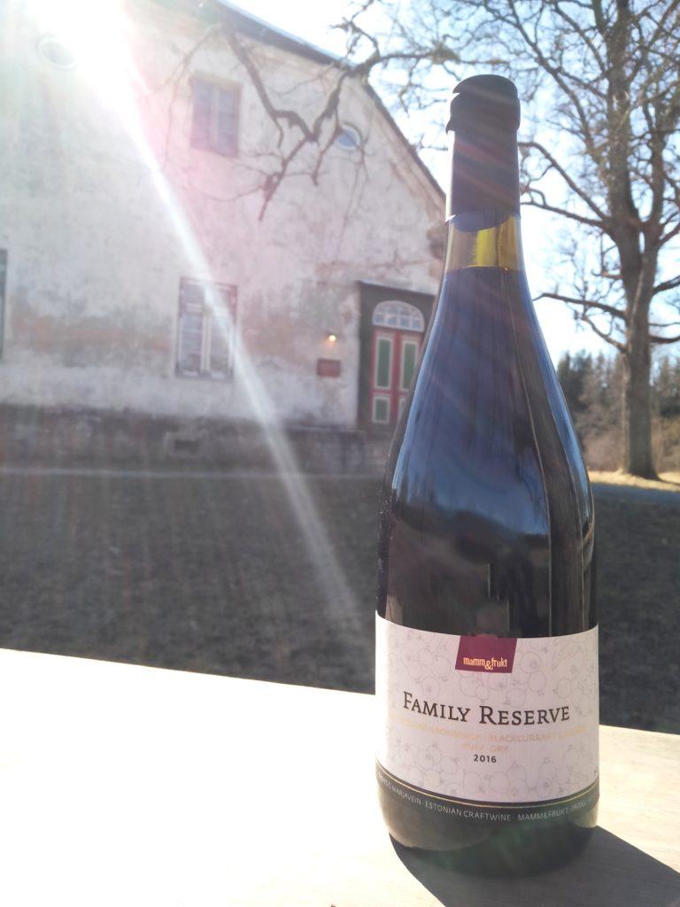 Mamm&Frukt käsitöövein Eesti vein mustsõstravein arooniaga_Family Reserve_Põhjaka mõis